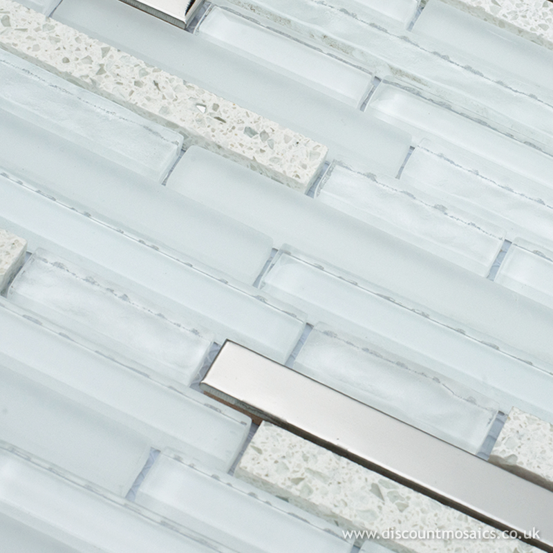 quartz white mosaic tile discount mosaics the mosaic tile specialist