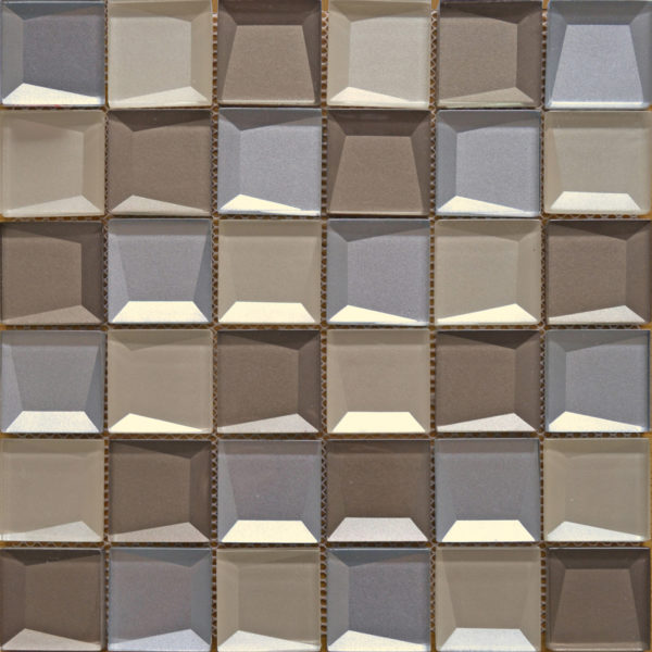 abstract beige mosaic tiles